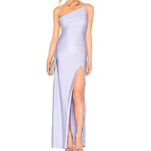 Lavender Lilac Satin Dress by About Us